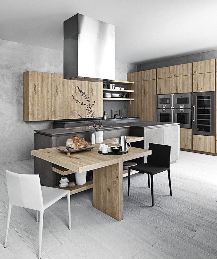 kuchen-modern-holz-funktional-essplatz-regale-massivholz-kuechenfronten-wand-beton
